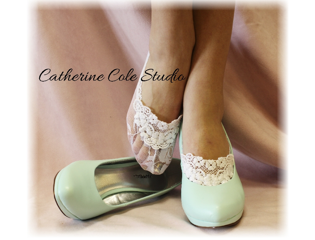 Wedding Wedding Slippers lace socks for heels white great bridal wedding shoes slippers footlets peep bridesmaids flats catherine co